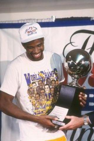 Magic Johnson Named League MVP