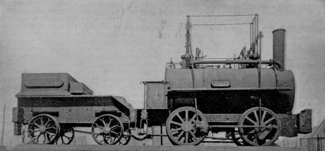 The first steam Locomotive