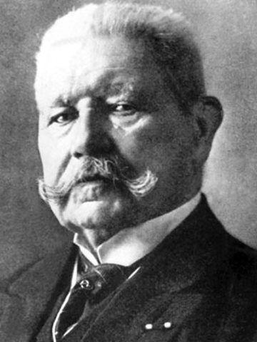 President Von Hindenburg Dies