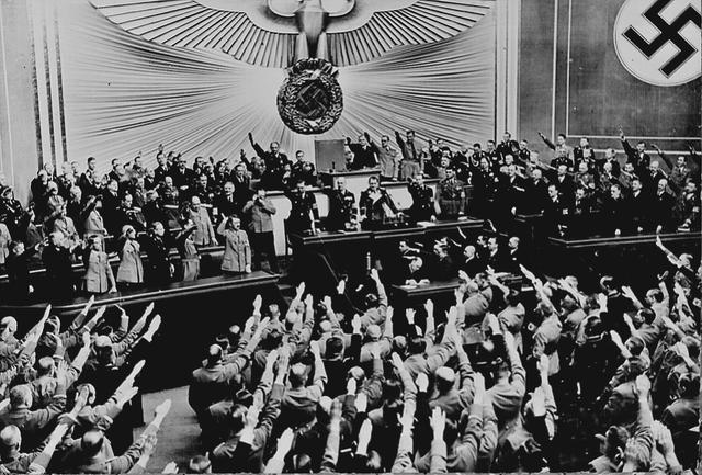 n a speech to the Reichstag, Hitler threatens the extermination of Europe's Jews in the event of war.
