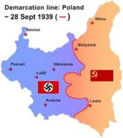 The Soviet Union occupies Poland from the east