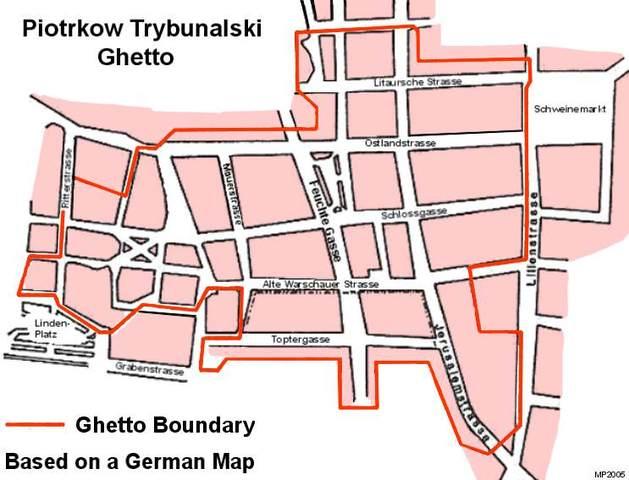 Germans establish a ghetto in Piotrków Trybunalski, Poland