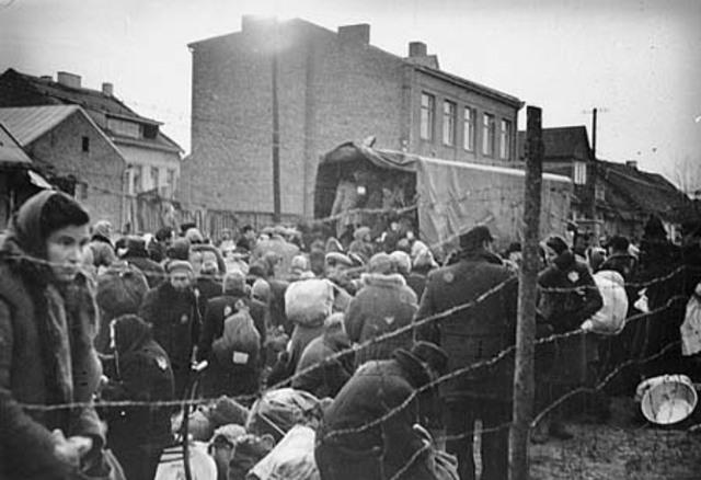 The Germans establish the Kovno Ghetto in Lithuania