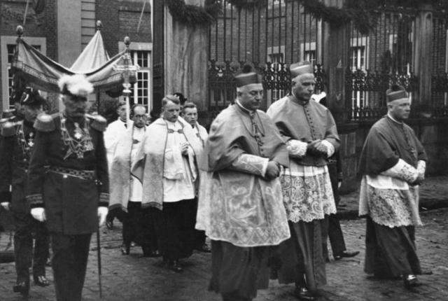 "Cardinal August Count von Galen of Muenster denounces the ""euthanasia"" killing program in a public sermon"