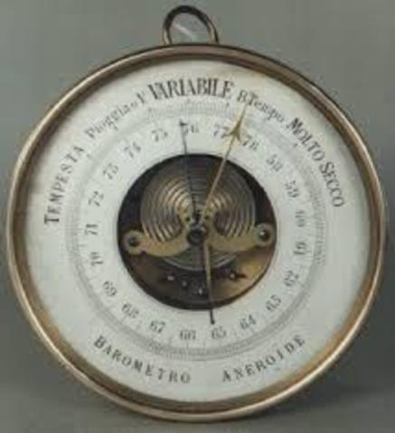 Evangelista Torriceli inventa el Barómetro