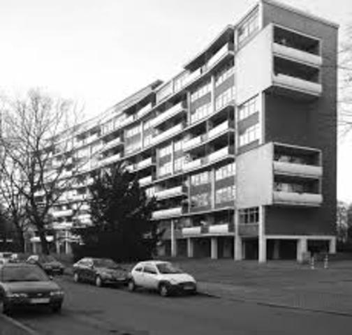Edificio de viviendas en Hansaviertel, Walter Gropius