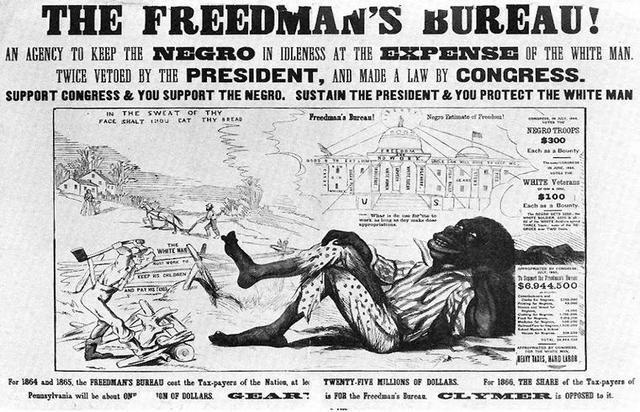 Johnson vetoes bill asking to extend Freedmen's Bureau