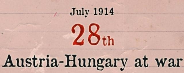Austria–Hungary declares war on Serbia