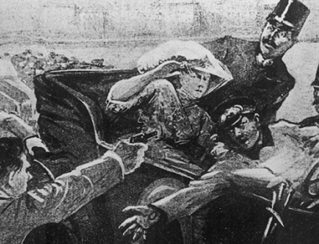 Assasination of Franz Ferdinand and his wife Sofia