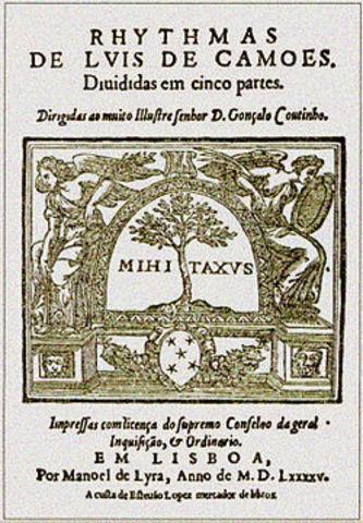 Edição da coletânea «Rimas»