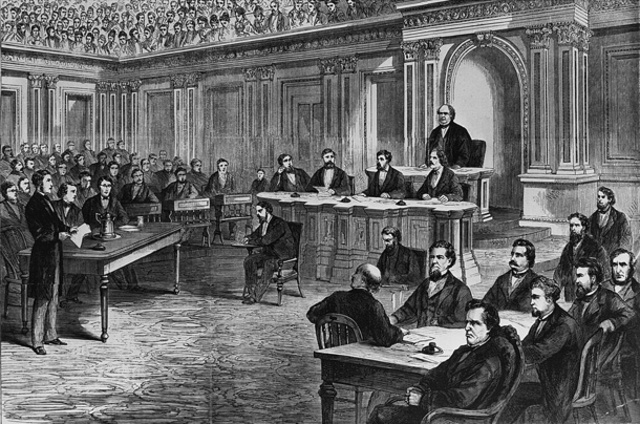 Johnson acquitted by one vote