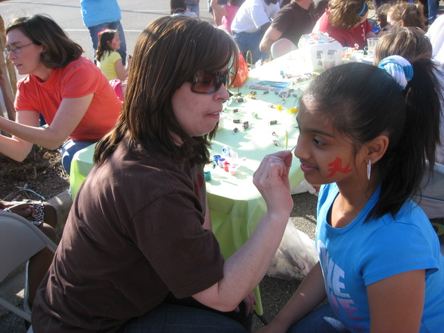 Easter Egg hunt in our community - had my face painting