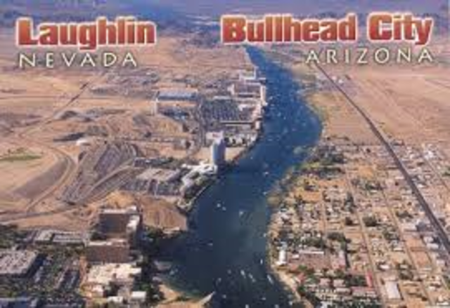 Sends a postcard to Jan Burres in Niland, California, including a map so she and boyfriend Bob can visit him in Bullhead City.