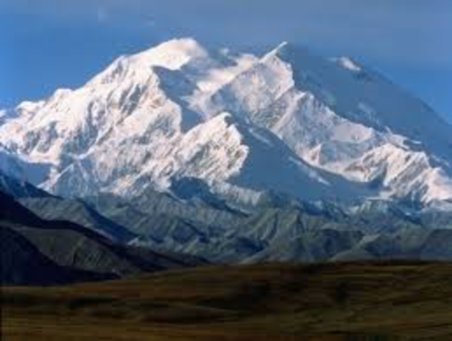 Sees Mt. McKinley.