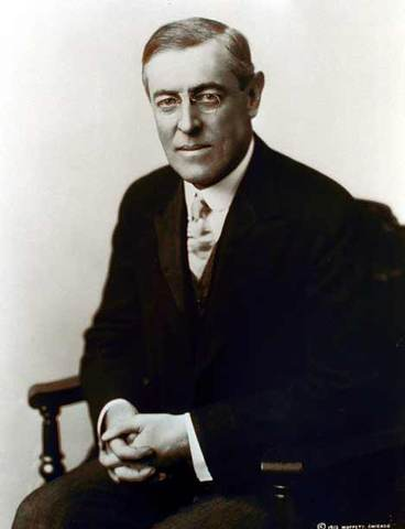 U.S. President Woodrow Wilson issues his Fourteen Points to peace.