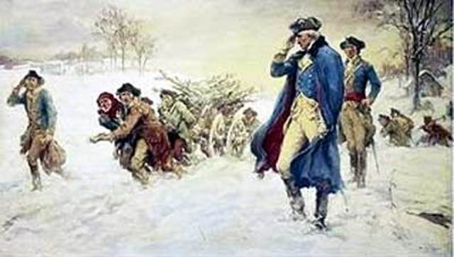 Washington camps at Valley Forge for the winter