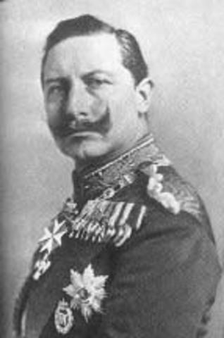 German Kaiser Wilhelm II steps down and flees Germany