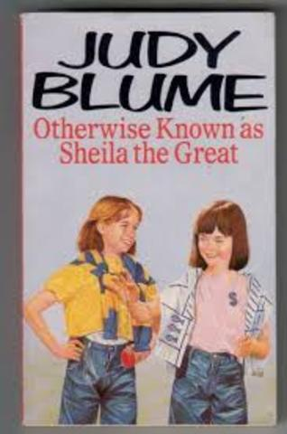 judy Blume otherwise knowen as shelia the great