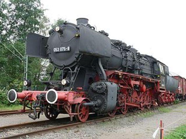 El primer tren de vapor amb passatgers
