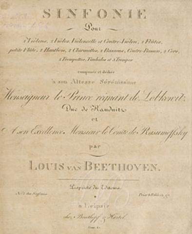 Ludwig van Beethoven 5th symphony 1804-1808