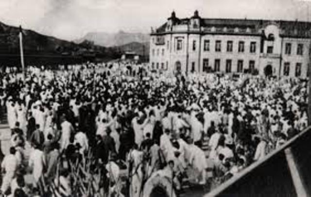March 1st Movement begins in Korea