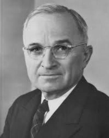 Harry S Truman Becomes president