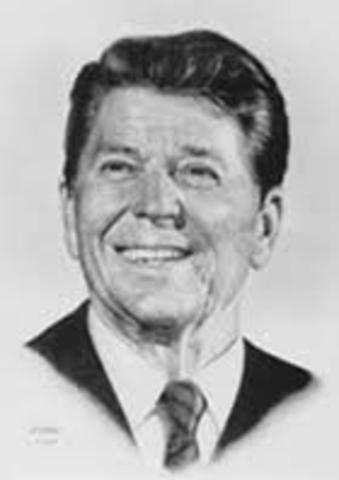 Ronald Regan becomes president