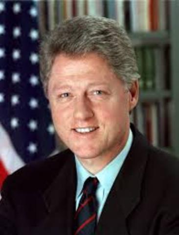 Bill Clinton becomes president