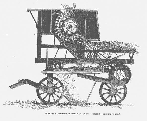 First Threshing Machine
