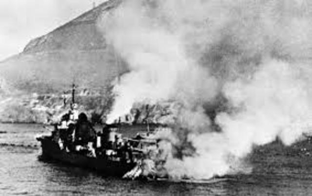 First German Air Raid on Britain.