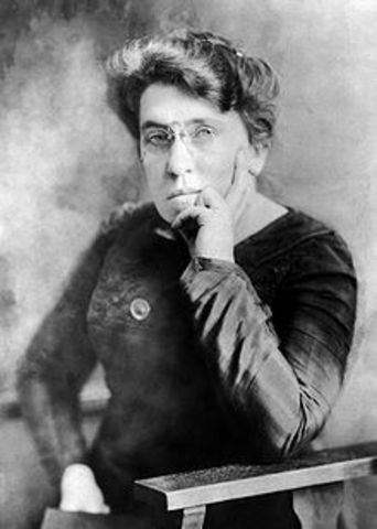 Emma Goldman arrested for lecturing about birth control .