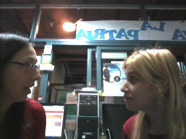 Preparando con una colega una capacitacion con la web cam! para Docentes de CABA