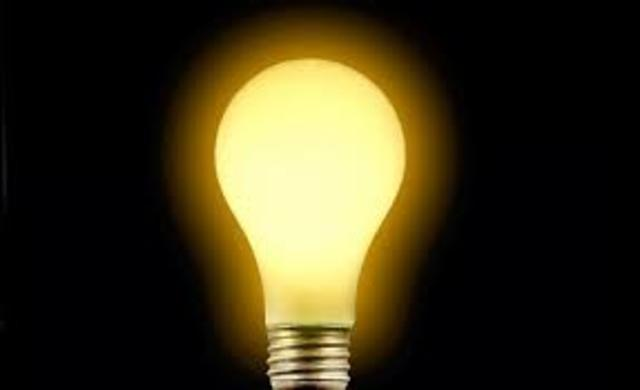 The first electrical light