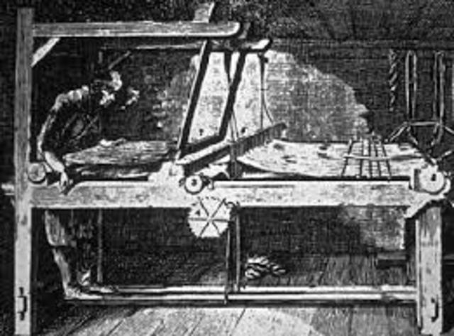 Cartwright builds a power loom.