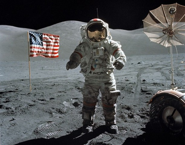 Neil Armstrong and Buzz Aldrin Walk on the Moon