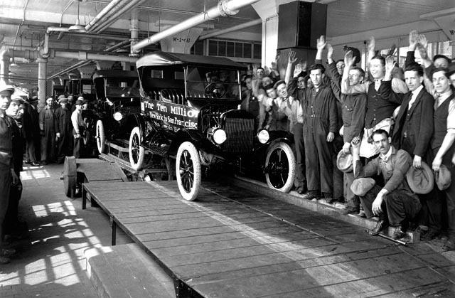 Cadena de muntatge a la fàbrica Ford