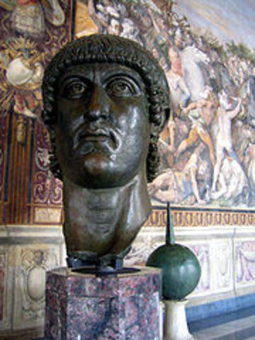 Es construeix l'Arc de Constantí a Roma per commemorar la seva victòria sobre Maxenci
