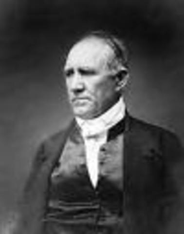 Sam Houston is elected President of the Republic.