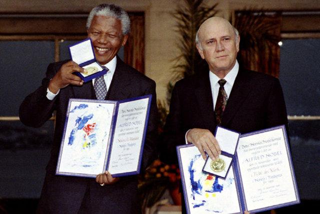 Mandela and de Klerk Share Nobel