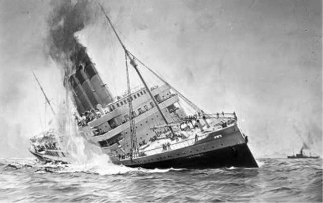 RMS Lusitana is Sunk