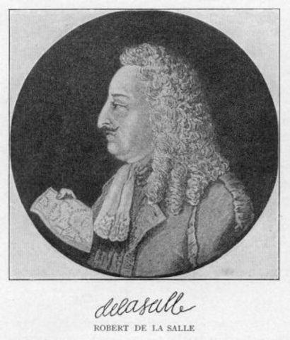 French explorer Rene-Robert Cavelier, Sieur de La Salle, lands in Texas by mistake