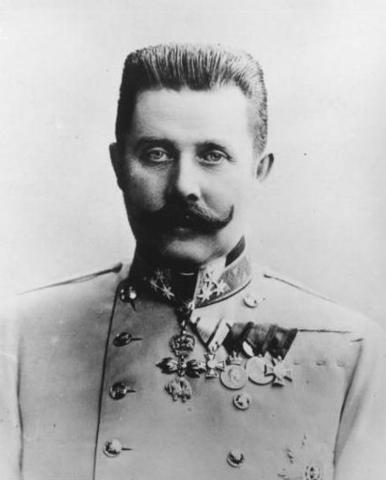 Arch Duke of Austria Hungary, Franz Ferdinand is assassinated.