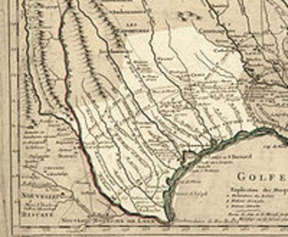 Alonso Alvarez de Pineda maps Texas coastline
