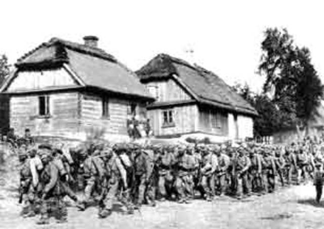 The Germans captured Warsaw from the Russians