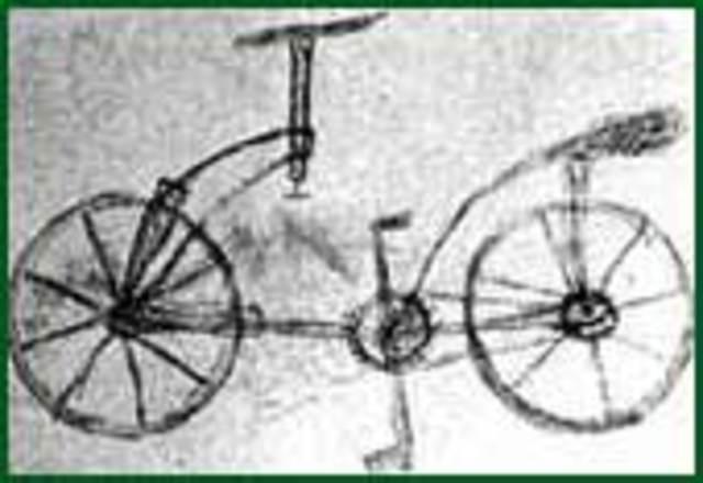 diseño de la primera bicicleta