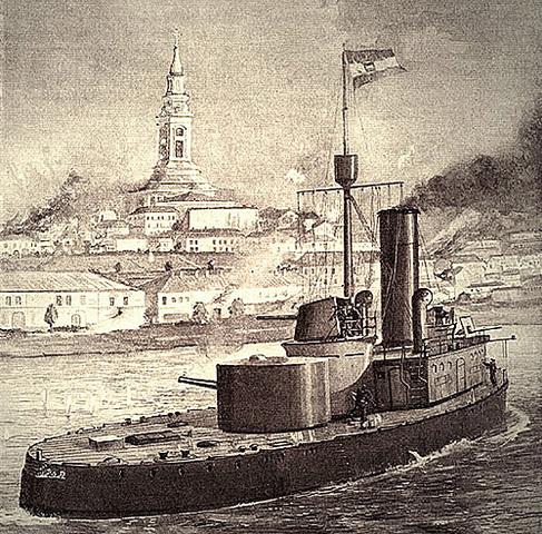Austrian warships attack