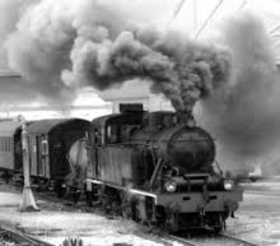 primer tren publico de vapor