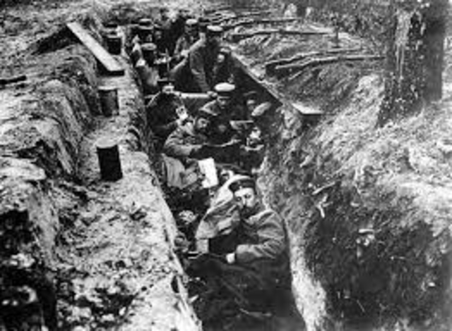 Trench warfare on the Western Front begins