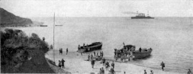 The Anzacs land at Gallipoli
