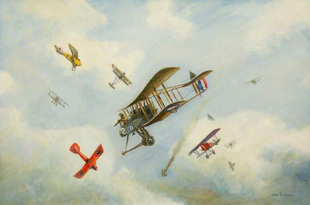 The Red Baron Is Shot Down
